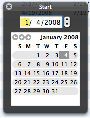Bento's date picker pop-up is much prettier than FileMaker's